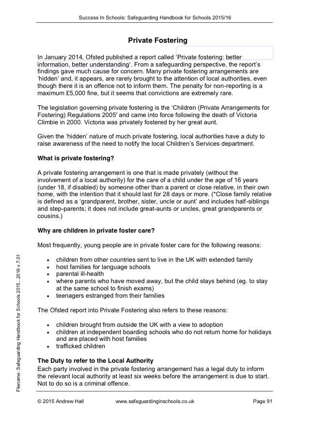 Safeguarding Handbook